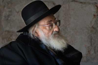 Elderly man in Jerusalem