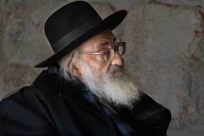 Elderly man in Jerusalem