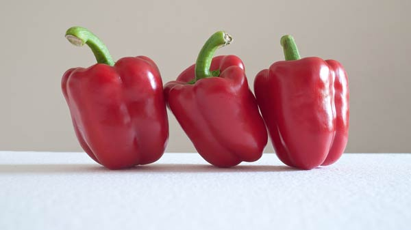 leaning peppers