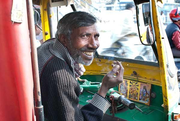 Weekly Photo Challenge: Foreign – Delhi Auto-RickshawDriver