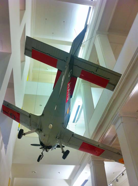 Aeroplane in The National Museum Of Scotland in Edinburgh