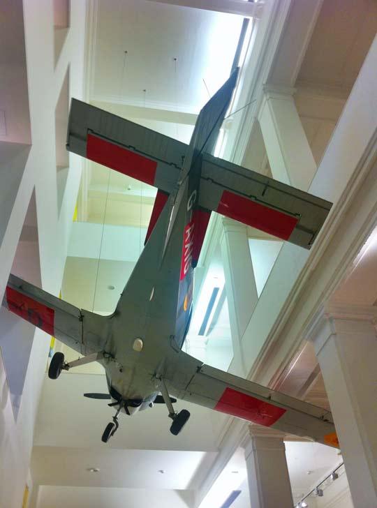 Aeroplane in The National Museum Of Scotland in Edinburgh
