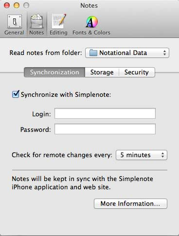 Syncing nVALT With Simplenote
