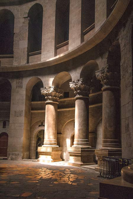 Interior of the Church of the Holy Sepulchre in Jerusalem