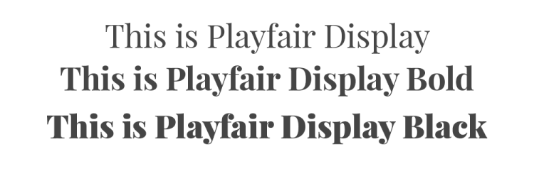 Examples of Playfair typeface and their history