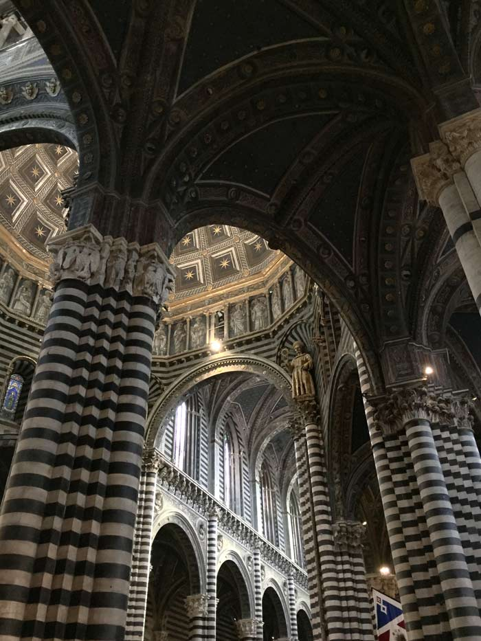 The interior of the Duomo in Siena