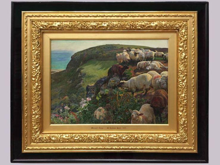 our-english-coasts-strayed-sheep-william-holman-hunt-1852