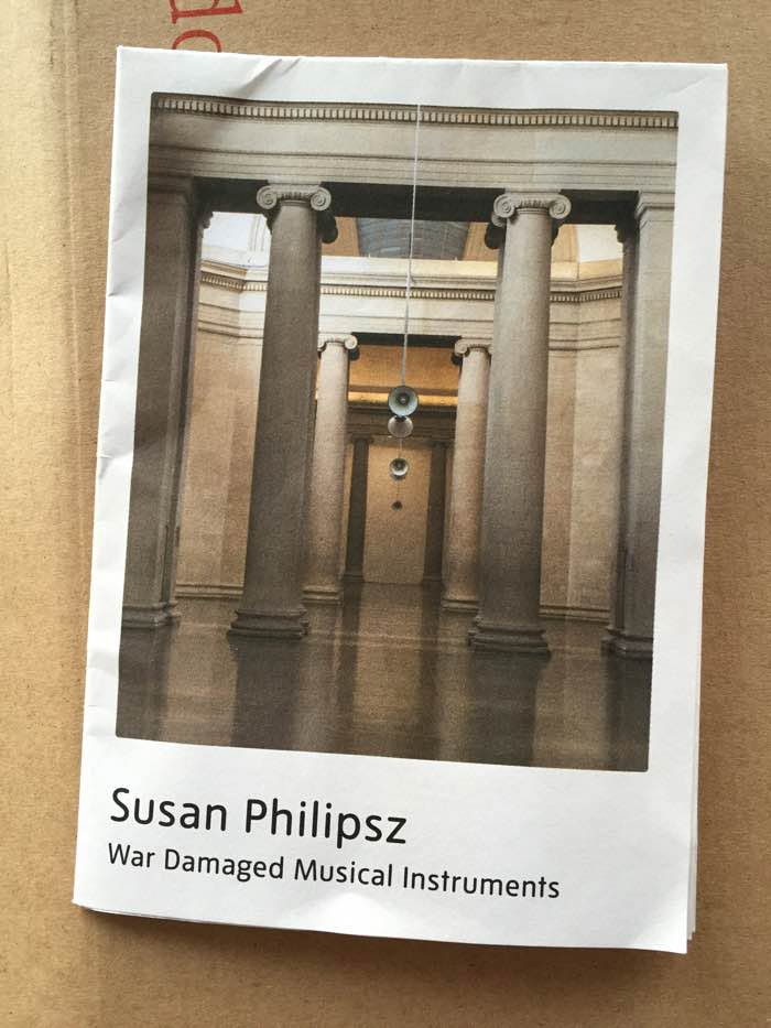Cover of Booklet about Susan Philipsz at Music at Tate Britain