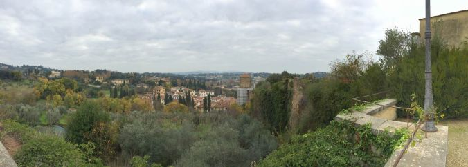 Tuscan countryside from the gardens of the palazzo pitti