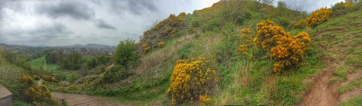 panoramic view of the Hermitage Of Braid, Edinburgh