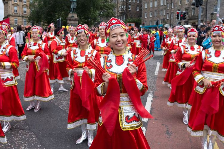 Edinburgh festival parade