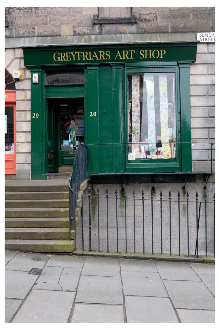 Greyfriars Art Shop in Edinburgh
