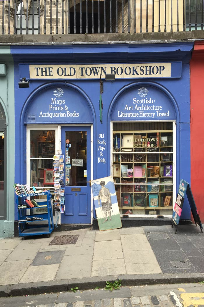 The Old Town Bookshop Victoria Street Edinburgh