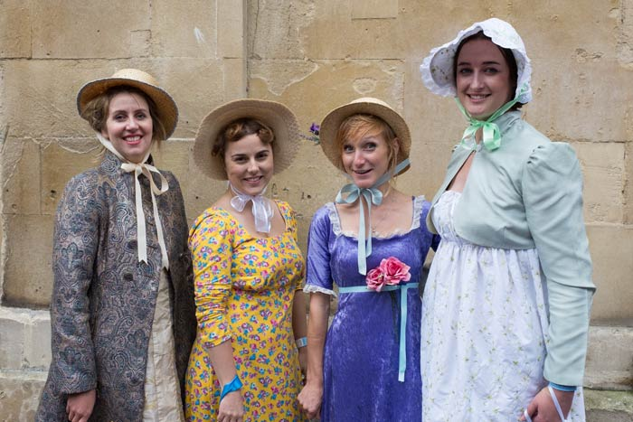People in Costume at the Jane Austen Festival in Bath