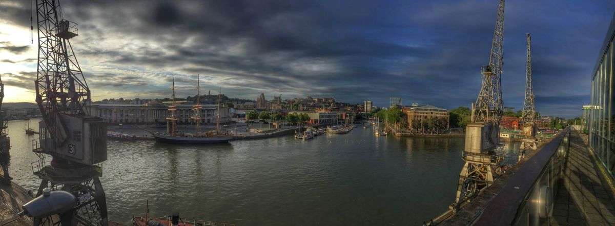 The floating harbour in Bristol