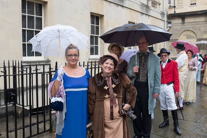 Jane Austen Festival parade in Bath
