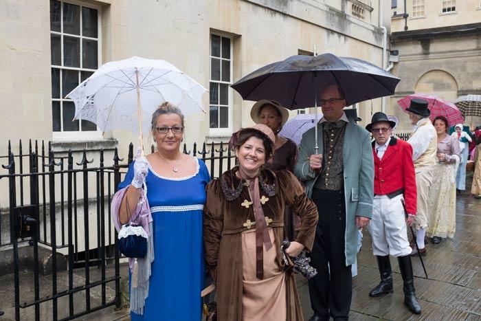 Jane Austen Festival parade in Bath