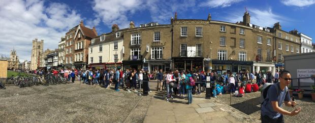 panorama of king's parade in Cambridge