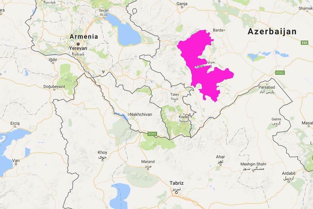 map of Nagorno-Karabakh