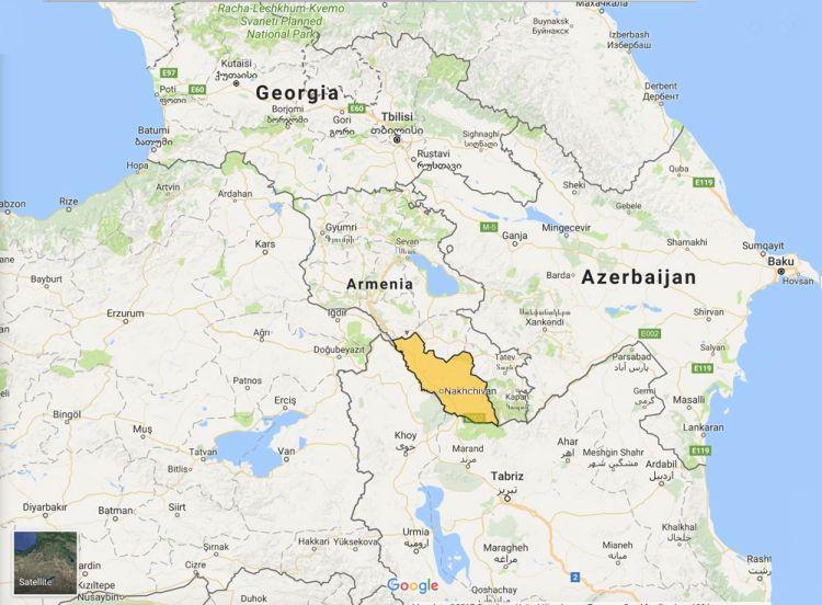 map showing Nakhchivan Autonomous Republic
