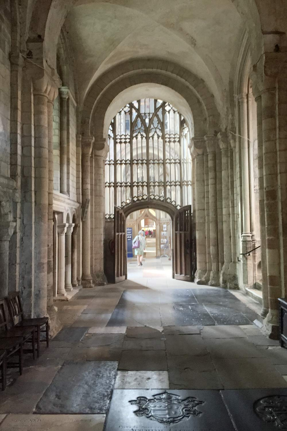 side nave at Norwich cathedral
