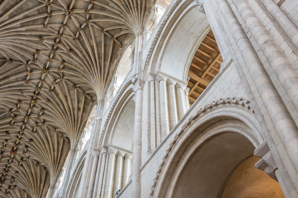 the roof of Norwich Cathedral