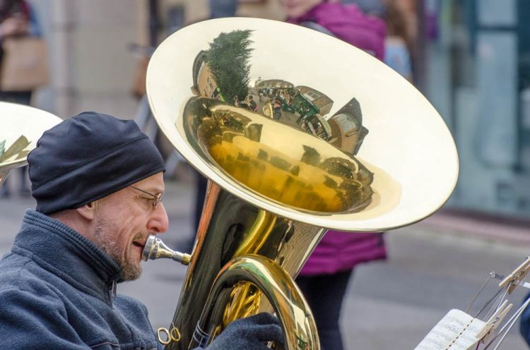 Salvation Army band playing in Cambridge