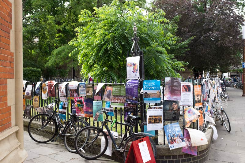 Posters on railings Tied on with bright cotton Yoga for children and Bach for beginners Choral recitals and plays with deep meaning These are a few of my favorite things