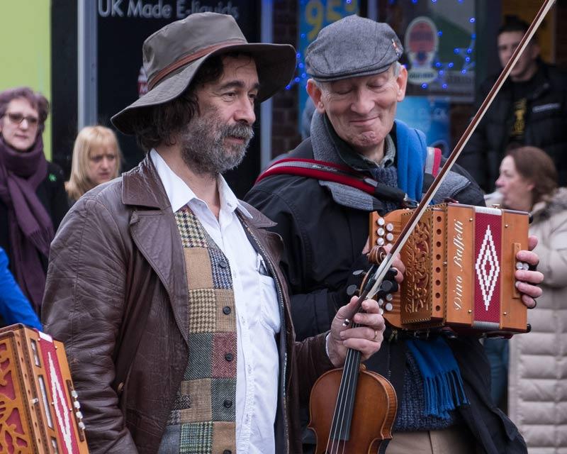 street musicians close up 5x4