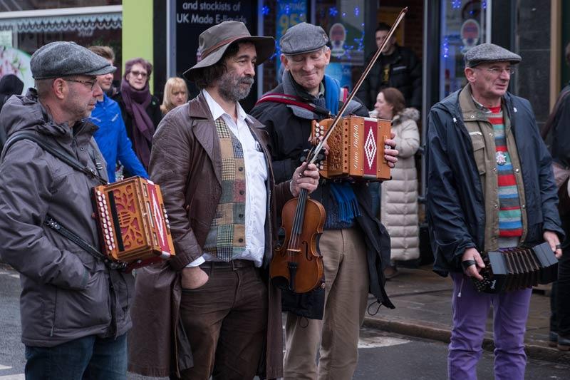 street musicians full frame