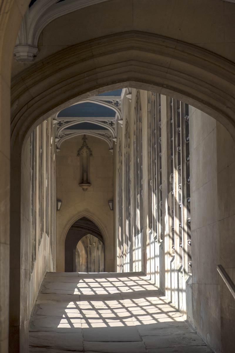 Bridge of Sighs - covered bridge at St John's College, Cambridge University.