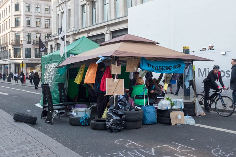Wellness Hub - a place to talk things through at the Extinction Rebellion protest