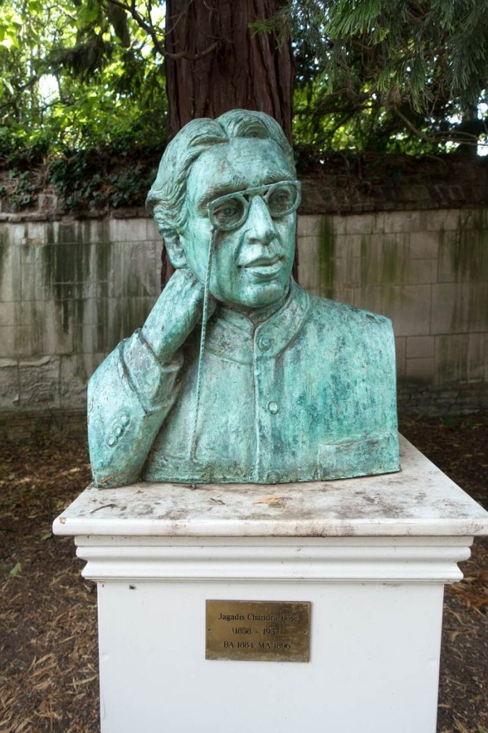 Bust of Jagadish Chandra Bose in the grounds of Christ's College, Cambridge.