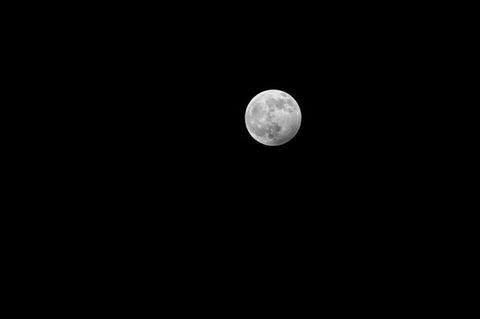 full moon in a black sky over Cambridge UK