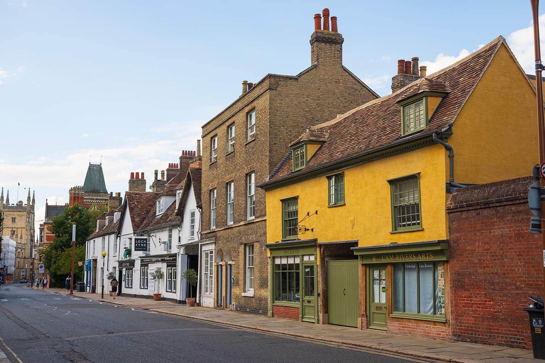 Buildings on Trumpington Street Cambridge
